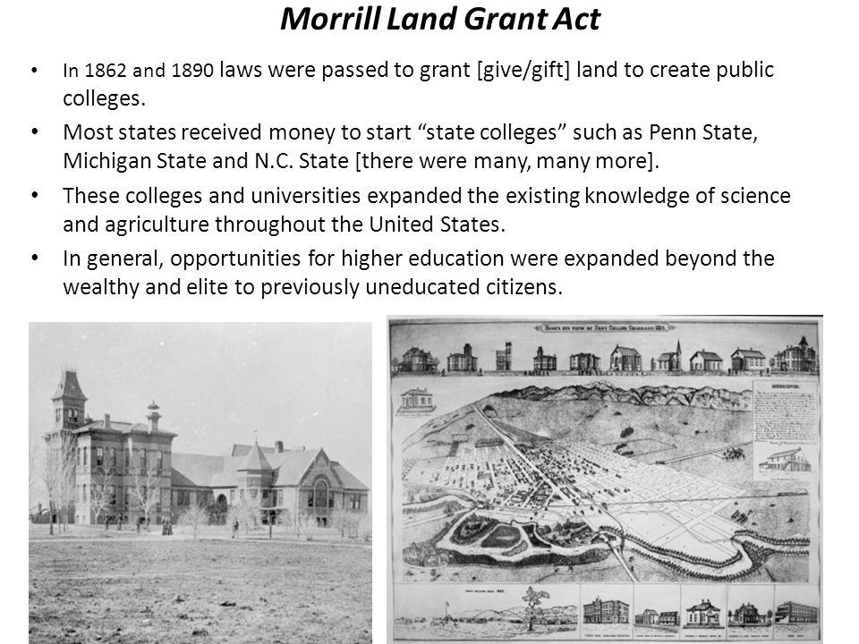 an analysis of the land grant act Epa's superfund program is responsible for cleaning up some of the nation's most contaminated land and responding to environmental emergencies, oil spills and natural disasters to protect public health and the environment, the superfund program focuses on making a visible and lasting difference in communities, ensuring that people can live.